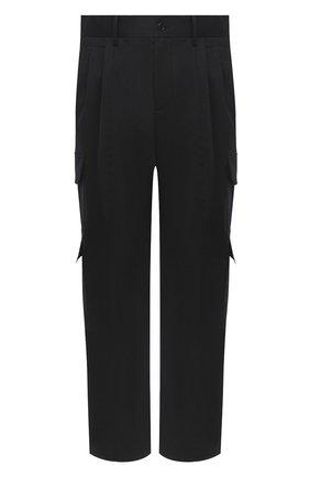 Мужской хлопковые брюки-карго NEIL BARRETT черного цвета, арт. PBPA805/P008 | Фото 1