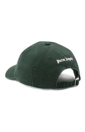 Мужской хлопковая бейсболка PALM ANGELS темно-зеленого цвета, арт. PMLB003E20FAB0065701 | Фото 2