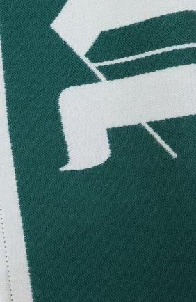 Мужской шарф из шерсти и хлопка PALM ANGELS зеленого цвета, арт. PMMA011E20KNI0015501 | Фото 2