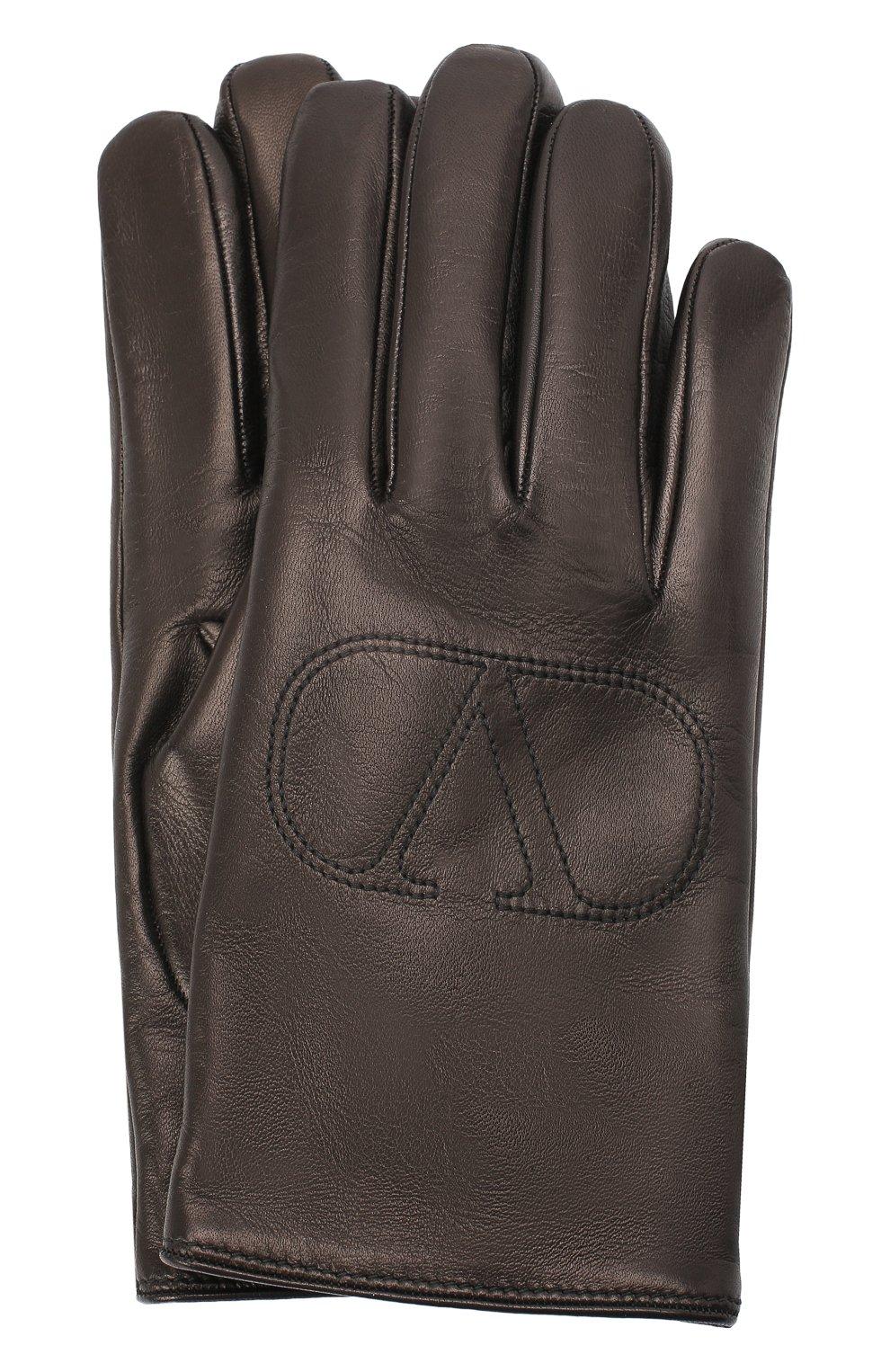 Мужские кожаные перчатки VALENTINO черного цвета, арт. UY2GDA06/BHH | Фото 1