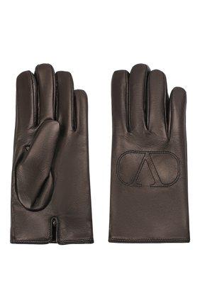 Мужские кожаные перчатки VALENTINO черного цвета, арт. UY2GDA06/BHH | Фото 2