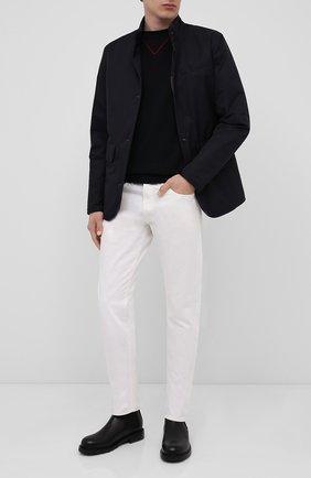Мужской хлопковый джемпер HUGO черного цвета, арт. 50430503 | Фото 2