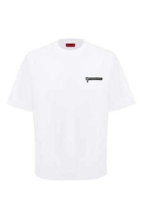 Мужская футболка HUGO белого цвета, арт. 50432333 | Фото 1