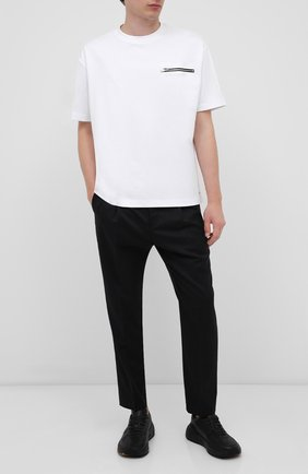 Мужская футболка HUGO белого цвета, арт. 50432333 | Фото 2