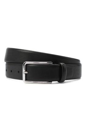 Мужской кожаный ремень BOSS черного цвета, арт. 50435213 | Фото 1