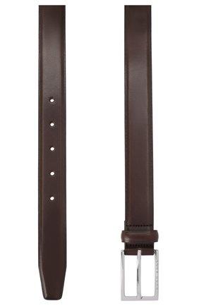 Мужской кожаный ремень BOSS темно-коричневого цвета, арт. 50408103 | Фото 2