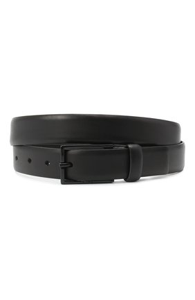 Мужской кожаный ремень HUGO черного цвета, арт. 50436892 | Фото 1