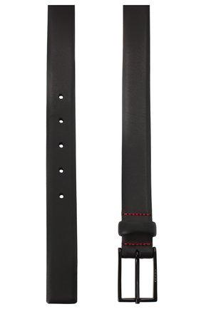 Мужской кожаный ремень HUGO черного цвета, арт. 50436892 | Фото 2