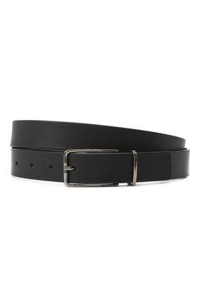 Мужской кожаный ремень HUGO черного цвета, арт. 50436881 | Фото 1