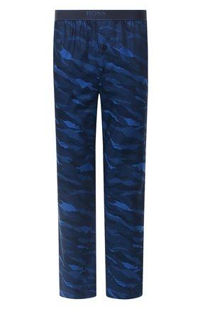 Мужские хлопковые брюки BOSS темно-синего цвета, арт. 50430724 | Фото 1