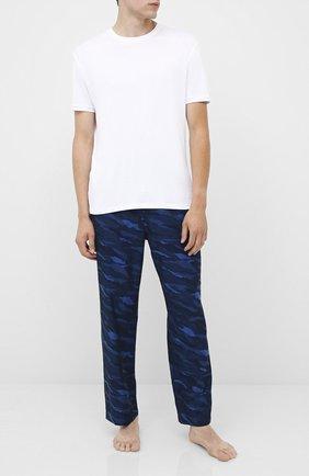 Мужские хлопковые брюки BOSS темно-синего цвета, арт. 50430724 | Фото 2