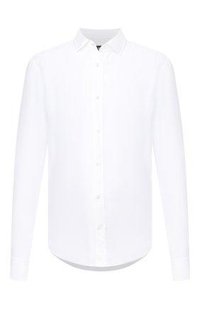 Мужская льняная сорочка BOSS белого цвета, арт. 50432540 | Фото 1