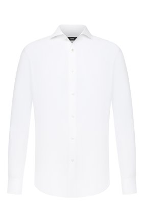 Мужская льняная рубашка BOSS белого цвета, арт. 50432575 | Фото 1