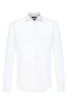 Мужская хлопковая сорочка BOSS белого цвета, арт. 50432712 | Фото 1