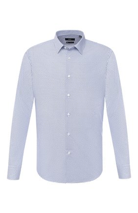 Мужская хлопковая сорочка BOSS синего цвета, арт. 50432665 | Фото 1