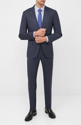 Мужская хлопковая сорочка BOSS синего цвета, арт. 50432665 | Фото 2
