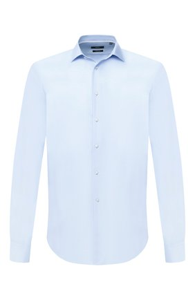 Мужская хлопковая сорочка BOSS голубого цвета, арт. 50432712 | Фото 1