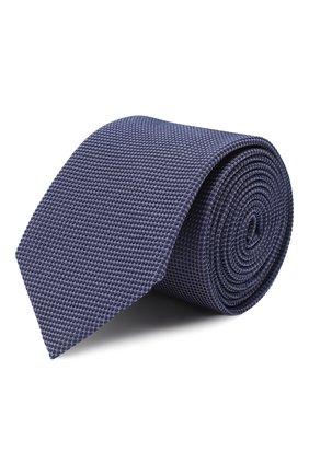 Мужской шелковый галстук HUGO фиолетового цвета, арт. 50434562 | Фото 1