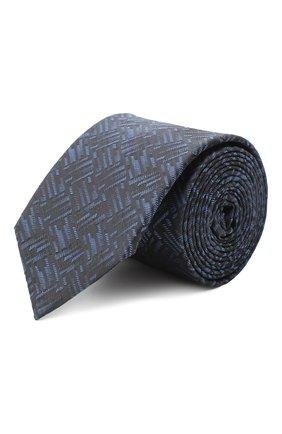 Мужской шелковый галстук HUGO темно-синего цвета, арт. 50434534 | Фото 1