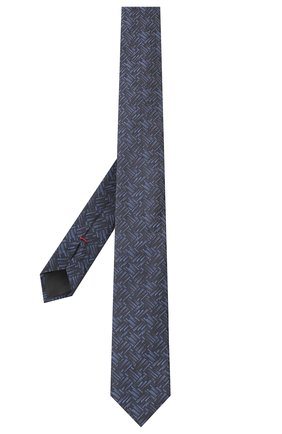 Мужской шелковый галстук HUGO темно-синего цвета, арт. 50434534 | Фото 2