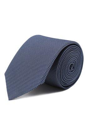 Мужской шелковый галстук HUGO темно-синего цвета, арт. 50434562 | Фото 1