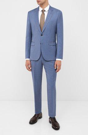 Мужской шерстяной костюм HUGO синего цвета, арт. 50433650 | Фото 1