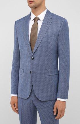 Мужской шерстяной костюм HUGO синего цвета, арт. 50433650 | Фото 2