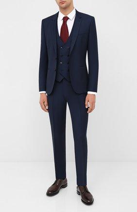 Мужской шерстяной костюм-тройка HUGO синего цвета, арт. 50433802 | Фото 1