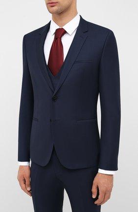 Мужской шерстяной костюм-тройка HUGO синего цвета, арт. 50433802 | Фото 2