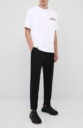 Мужской шерстяные брюки HUGO черного цвета, арт. 50432366 | Фото 2