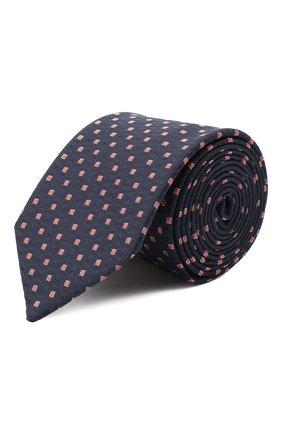 Мужской галстук из вискозы и шелка HUGO темно-синего цвета, арт. 50434559 | Фото 1