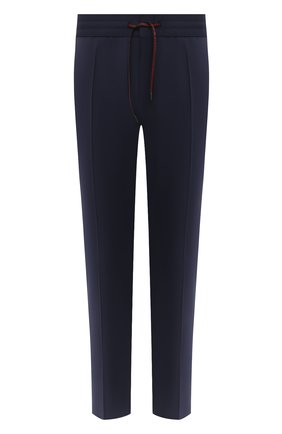Мужской шерстяные брюки HUGO темно-синего цвета, арт. 50431805 | Фото 1