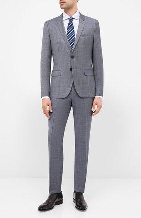 Мужской шерстяной костюм HUGO серого цвета, арт. 50433621 | Фото 1