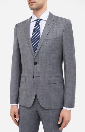 Мужской шерстяной костюм HUGO серого цвета, арт. 50433621 | Фото 2