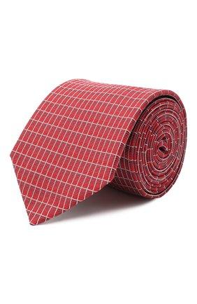 Мужской шелковый галстук HUGO красного цвета, арт. 50434581 | Фото 1