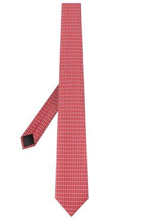 Мужской шелковый галстук HUGO красного цвета, арт. 50434581 | Фото 2