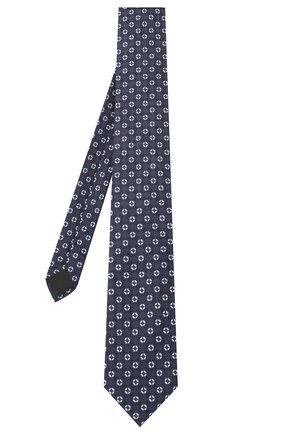 Мужской шелковый галстук HUGO темно-синего цвета, арт. 50434575 | Фото 2