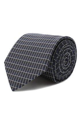 Мужской шелковый галстук HUGO темно-синего цвета, арт. 50434581 | Фото 1
