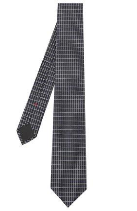 Мужской шелковый галстук HUGO темно-синего цвета, арт. 50434581 | Фото 2