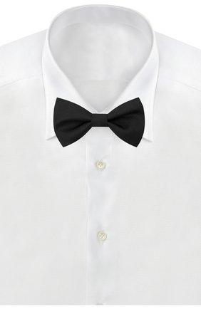 Мужской шелковый галстук-бабочка HUGO черного цвета, арт. 50434606 | Фото 2