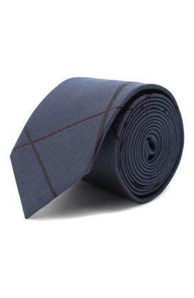 Мужской шелковый галстук HUGO темно-синего цвета, арт. 50434509 | Фото 1