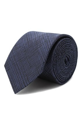 Мужской шелковый галстук HUGO темно-синего цвета, арт. 50434557 | Фото 1