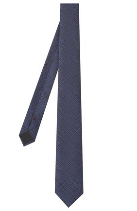 Мужской шелковый галстук HUGO темно-синего цвета, арт. 50434557 | Фото 2