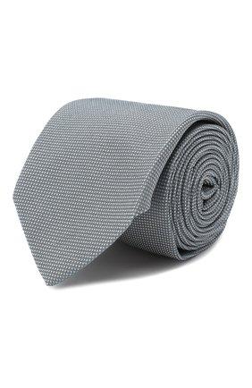 Мужской шелковый галстук HUGO серого цвета, арт. 50398288 | Фото 1