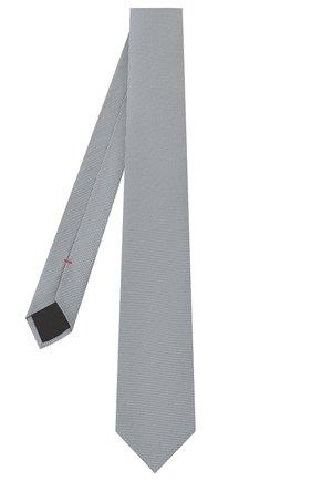 Мужской шелковый галстук HUGO серого цвета, арт. 50398288 | Фото 2