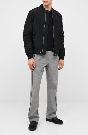 Мужской хлопковые брюки CROW'S EYE серого цвета, арт. LE 54 | Фото 2