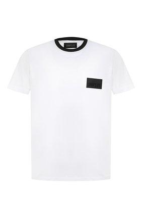 Мужская хлопковая футболка CROW'S EYE белого цвета, арт. LE 61 | Фото 1