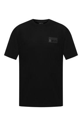 Мужская хлопковая футболка CROW'S EYE черного цвета, арт. LE 60 | Фото 1