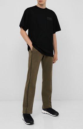 Мужская хлопковая футболка CROW'S EYE черного цвета, арт. LE 60 | Фото 2
