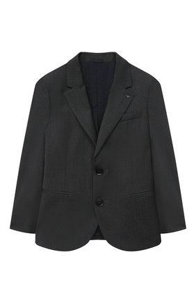 Детский костюм из пиджака и брюк EMPORIO ARMANI серого цвета, арт. 8N4V02/4N19Z | Фото 2